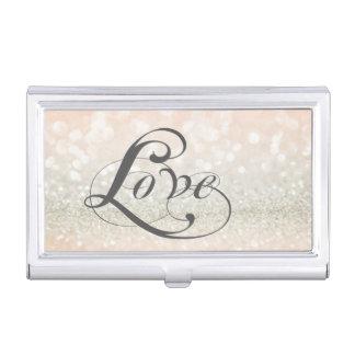Moderne elegante schicke Glittery-Liebe Visitenkarten Dose
