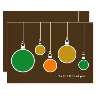 Moderne Feiertags-Einladung - schokoladenbraun Karte