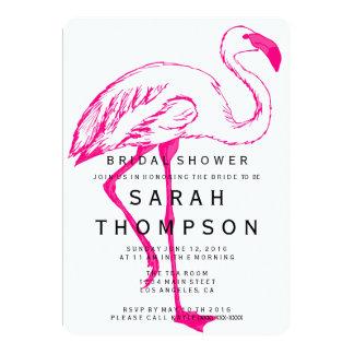 Moderne Flamingo-Brautparty-Einladung Karte