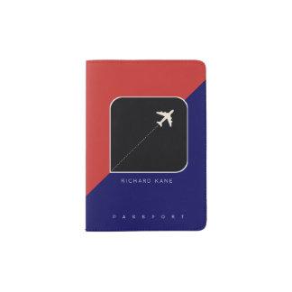 moderne Flugzeugverkehr-Passabdeckung mit Namen Passhülle