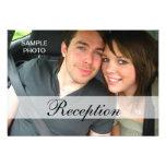 Moderne Foto-Hochzeits-Empfangs-Karten