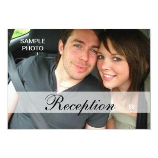 Moderne Foto-Hochzeits-Empfangs-Karten 8,9 X 12,7 Cm Einladungskarte