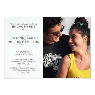 Moderne Foto-Verlobungs-Polterabend-Einladungen Karte