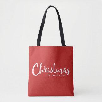 Moderne frohe Weihnachten Tasche