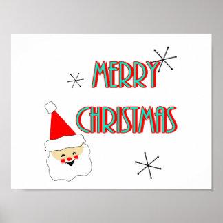 moderne frohe Weihnachten Weihnachtsmanns der Poster