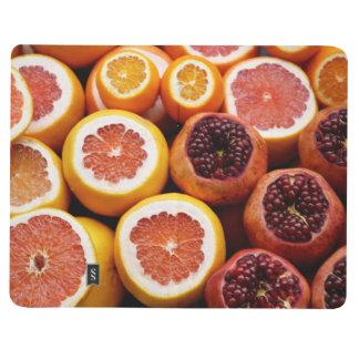 moderne fruchtige taschennotizbuch