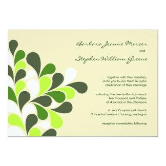 Moderne Frühlings-Grün-Hochzeits-Einladungen 12,7 X 17,8 Cm Einladungskarte