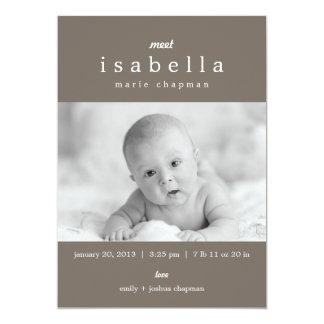 MODERNE Geburts-Mitteilungen 12,7 X 17,8 Cm Einladungskarte