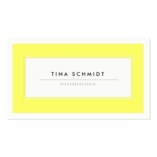 Moderne Gelb Visitenkarten Modèle De Carte De Visite