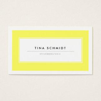 Moderne Gelb Visitenkarten Cartes De Visite