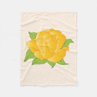 Moderne gelbe Rose Fleecedecke