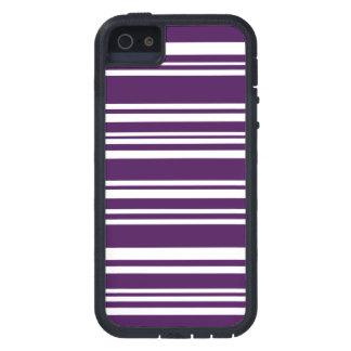 Moderne gemischte lila und weiße Streifen Tough Xtreme iPhone 5 Hülle