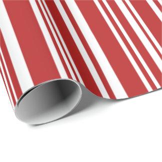 Moderne gemischte rote und weiße Streifen Einpackpapier