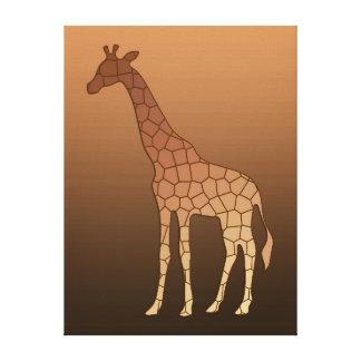 Moderne geometrische Giraffe, Kupfer und Brown Leinwanddruck