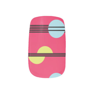 Moderne geometrische - Pink - Nagel-Kunst Minx Nagelkunst