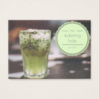 moderne Geschäftskarte des Bar-Barkeepers Visitenkarte