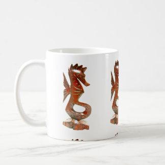 moderne geschnitzte Seepferd-Tasse Kaffeetasse