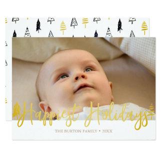 Moderne glücklichste Feiertags-Foto-Karte 12,7 X 17,8 Cm Einladungskarte