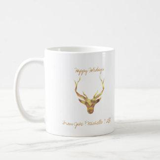 Moderne Goldrotwild Kaffeetasse