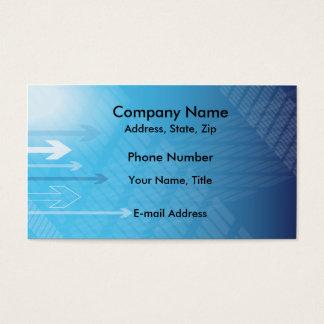 Moderne grafische Pfeile Visitenkarte