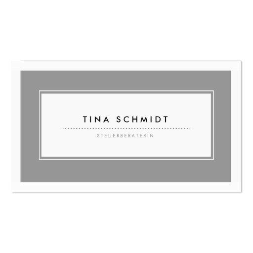 Moderne Grau Visitenkarten Carte De Visite