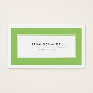 Moderne Grün Visitenkarten Cartes De Visite