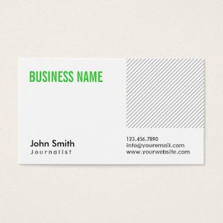 Moderne grüne Titel-Journalist-Visitenkarte Visitenkarte