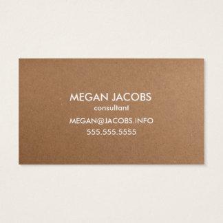 Moderne Handwerks-Papier-Beschaffenheit Visitenkarte
