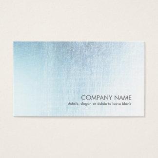 Moderne hellblaue gebürstete visitenkarte