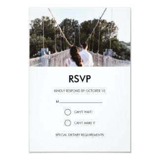 Moderne Hochzeits-Foto UAWG-Karte 8,9 X 12,7 Cm Einladungskarte
