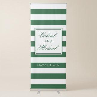 Moderne Hochzeits-Streifen Ausziehbarer Banner