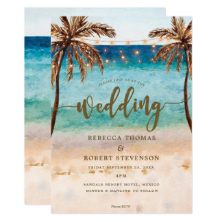 moderne Hochzeitseinladung der tropischen Karte