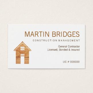 Moderne hölzerne allgemeine Baugewerbe-Karten Visitenkarte