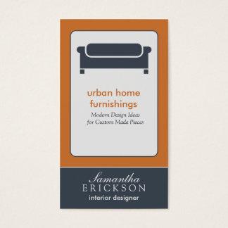 Moderne Innenarchitektur-/Dekorateur-Visitenkarte: Visitenkarte