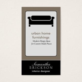 Moderne Innenarchitektur-/Dekorateur-Visitenkarte: Visitenkarten