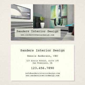 Moderne Innenarchitektur-Visitenkarte Visitenkarten