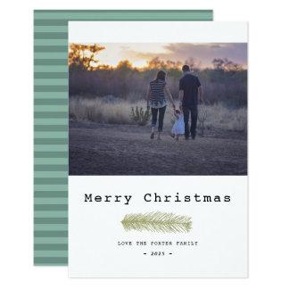 Moderne Kiefern-frohe Weihnachten Karte