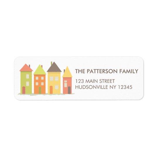 Moderne kleine Reihe des Haus-Adressen-Etiketts