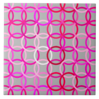 Moderne Kreise, Rosa, Magenta und Grau der Mitte Keramikfliese