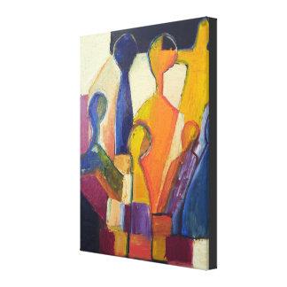 Moderne Kubismus-Zahl abstrakt Leinwanddruck