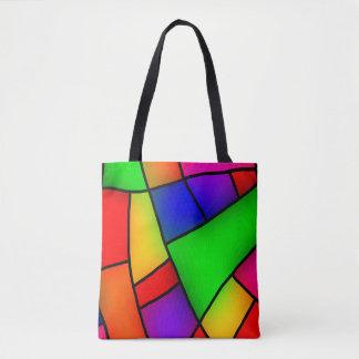 Moderne Kunst, künstlerisches buntes Mosaik Tasche