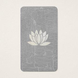 Moderne Lotos-Blume gemarmortes Grau Visitenkarte