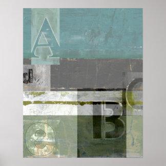 Moderne Malerei mit sortierten Buchstaben Poster