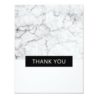 Moderne Marmorhochzeit danken Ihnen - Ebene Karte