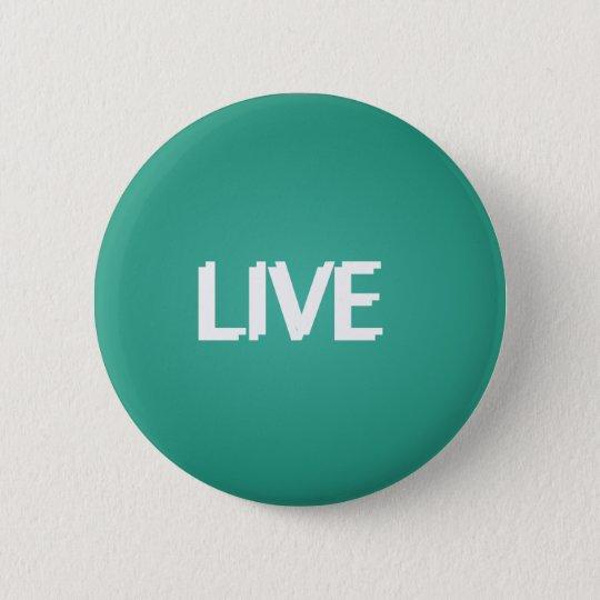Moderne modische lebhaftfarbe runder button 5,1 cm