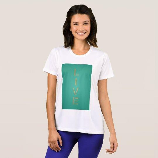 Moderne modische lebhaftfarbe T-Shirt