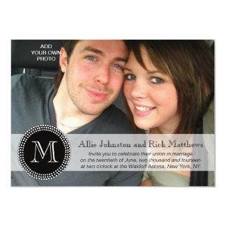 Moderne Monogramm-Foto-Hochzeits-Einladungen 11,4 X 15,9 Cm Einladungskarte