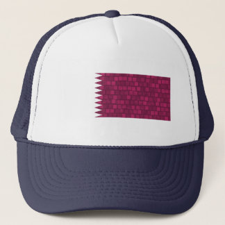 Moderne Muster Qatari Flagge Truckerkappe