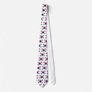Moderne Muster-Südkorea-Flagge Personalisierte Krawatte