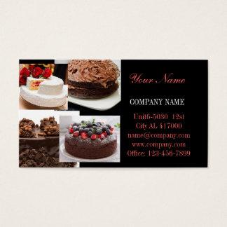 Moderne Nachtischbrot-Cafébäckerei Visitenkarte